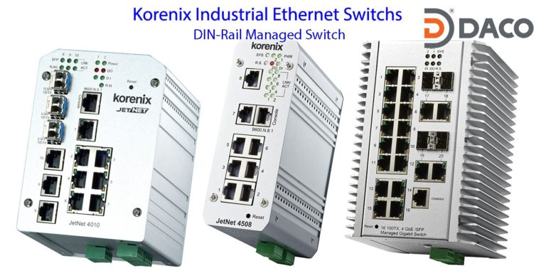 Korenix JetNet-DIN-Rail Managed Ethernet Switches