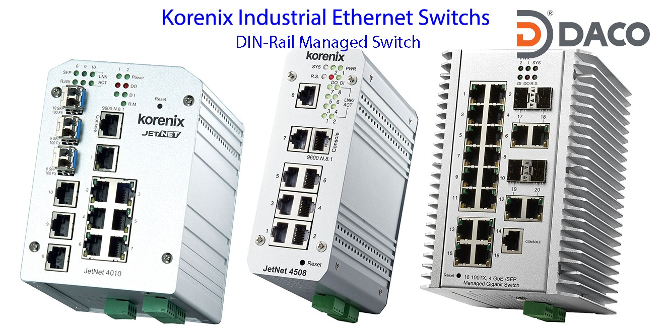 Korenix JetNet-DIN-Rail Managed Ethernet Switch