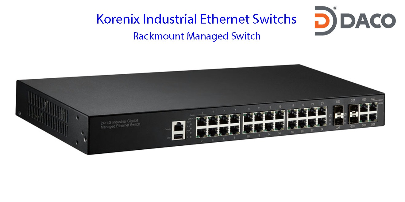 Korenix JetNet-Rackmount Managed Ethernet Switches
